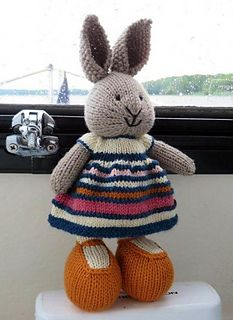 Inspired by the changing colors of the sky during sunsets at the dock…and finished while cruising on a cloudy, rainy day. The bunny was knit using Filatura Di Crosa Zara 1896 on 2.75 needles...