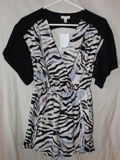 363799cec7b8 Urban Outfitters Silence Noise shorts romper zebra print New with tags size  XS  fashion