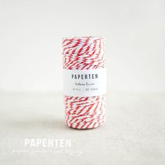 Baker's Twine Spool Orange & White Thick 12 Ply  Gift by PaperTen