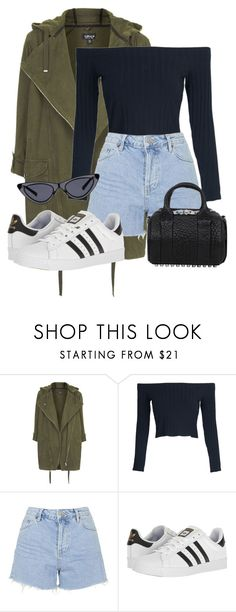 """Look:#989"" by dollarwomanlux ❤ liked on Polyvore featuring Topshop, WithChic, adidas and Alexander Wang"