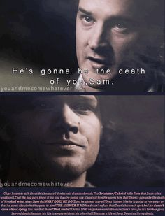 Poor Sammy... Everybody talks about how loyal Dean is to Sam. They forget that is goes both ways