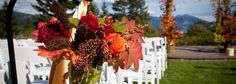 Skamania Weddings Ampitheater with Closeup of Aisle Flowers and Arch Sunset Wedding, Fall Wedding, Our Wedding, Destination Wedding, Wedding Venues, Wedding Destinations, Wedding Ideas, Wedding Bells, Wedding Ceremony