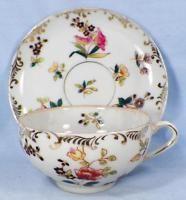 Fine Porcelain Tea Cup & Saucer Hand Painted Flowers Japan A Beauty Vintage