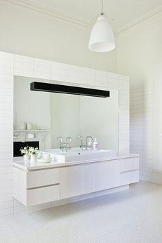 White Bathroom Sink, Twin Peaks House in Hawthorn, Australia by Jackson Clements Burrows