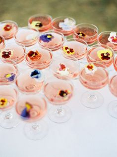 Create a signature drink for your special day that will add to the seasonal feel of your wedding event.