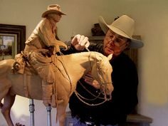 Horse Sculpture, Animal Sculptures, Bronze Sculpture, Cowboy Art, Artist At Work, Wood Carving, Decoration, Hand Carved, Napa Valley