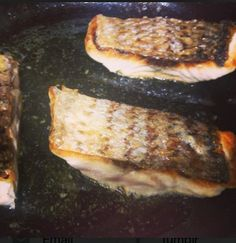Pan Seared Crispy Skin Striped Bass with Butter and Lemon