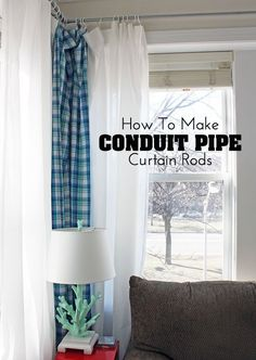 DIY conduit pipe curtain rods