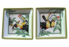 Hermès Toucan Trays, Pair