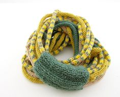 Scarf necklace knit necklace loop scarf  infinity by piabarile, $35.00