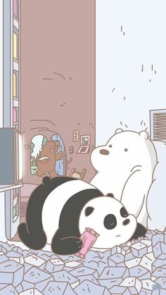 83 Cartoon Panda Wallpapers On Wallpaperplay In 2020 Bear inside We Bare Bears Wallpaper Aesthetic - Find your Favorite Wallpapers! Iphone Cartoon, Cartoon Wallpaper Iphone, Bear Wallpaper, Kawaii Wallpaper, Cute Wallpaper Backgrounds, Disney Wallpaper, We Bare Bears Wallpapers, Panda Wallpapers, Cute Cartoon Wallpapers