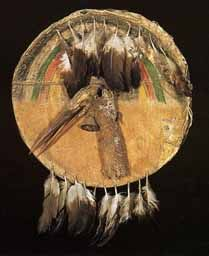 Native American Indian artifact from the Fenn collection - Sioux Shield, 1850-1875. Judge Thunder Bear.