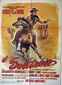 El Solitario, original western Mexican movie Poster Rodolfo de Anda, 1964