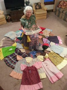 this 99 year old woman sews one dress every day - and sends them to little girls in Africa. you're never too old to make a difference and impact someone's life.