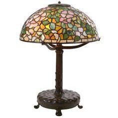Louis C. Tiffany for Tiffany Studios Dogwood Blossom Table Lamp, circa 1906
