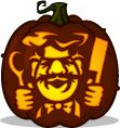 Swedish Chef pumpkin pattern - The Muppets - Pumpkin Carving Patterns and Stencils - Zombie Pumpkins!