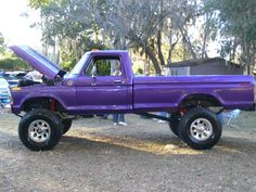 Sunday 5 – Purple old purple lifted truck 1979 Ford Truck, Ford Pickup Trucks, New Trucks, Cool Trucks, Ford 4x4, Chevy 4x4, Ford Bronco, Custom Trucks, Lifted Cars