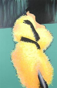 By René Gruau, The Yellow Lady.