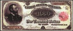 The $1000 bill printed in 1891 depicting Major General George Gordon Meade on its face was sold for $2.5 million in April 2013, in part due to its rarity and age, and partly due to the hands it had passed through during history, making it one of the world's most expensive banknotes ever sold.
