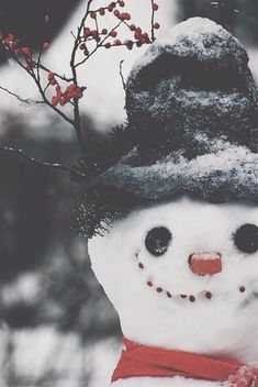 the cutest little snowman face.