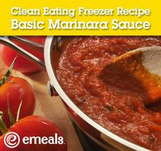 Make & freeze your own marinara sauce!  I love knowing exactly what is in my food :-)  #marinara #sauce #recipe