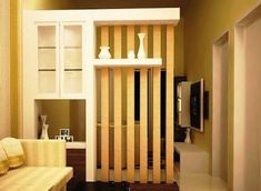 Ideas for wall partition design ideas room dividers Living Room Decor Colors, Living Room Red, Living Room Designs, Wall Partition Design, Living Room Partition, Wall Design, Tv Unit Furniture, Hall Furniture, Furniture Ideas