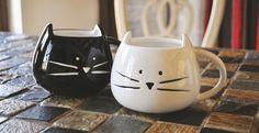 Cute Cat Mugs (White or Black)
