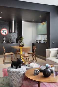 trendy home desng ideas small apartments Small Apartment Design, Small Apartments, Small Spaces, Living Room Kitchen, Living Room Decor, Sweet Home, Trendy Home, Design Case, Eclectic Decor