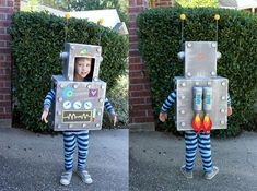 Planning a Robot Party? This list of must have robot birthday party ideas is your go to resource to make sure you cover all the essentials. Robot Halloween Costume, Robot Costumes, Halloween Birthday, Halloween Kids, Costumes Kids, Birthday Diy, Box Robot, Robot Art, Robot Theme