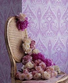 purple peacock wallpaper, Love this wallpaper wonder where I could get something like this!