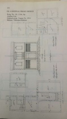 1911'de bir rum mimarın konut projesi  (F.Erpi :Buca'da Konut Mimarisi 1838-1934)