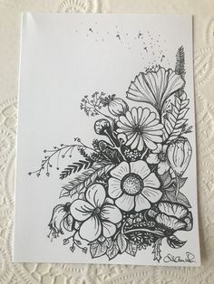 drawings drawing tattoos flower tattoo easy pencil line floral super sketches poptattoo tk
