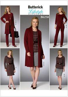 Butterick 6604 sewing pattern pour rendre Misses classique manteau ou veste col châle