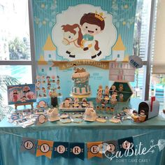 Blue and gold Little Prince birthday party! See more party ideas at CatchMyParty.com!