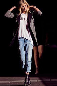 Jessica Hart Lingerie Rétro, Jeans Pour Femme, Tailleur, Mode Personnelle,  Tenues Automne 898e008334a4