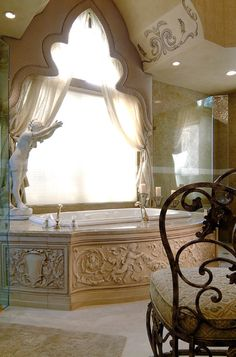 Ornate, amazing tub