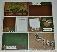 Tx Scrapper Mom - Animal Kingdom Project Life Layout, Dilo en Espanol stamps, Jaded Blossom dies