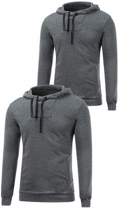 $17.80 Side Zip Up Drawstring Pullover Hoodie