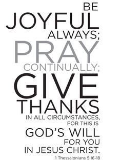 Good thing to remember! Whenever I get down about my circumstances or about where I want to be in life verses where I am, when I give thanks and praise for all God does for me and pray for others I am ALWAYS blessed with a peaceful and joyful heart and taken out if the dark place.