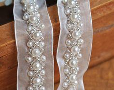 Recorte de encaje perla para boda vestido por DiyWholesaleMall