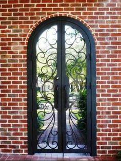 Courtyard Milan-5 - Wrought Iron Doors, Windows, Gates, & Railings from Cantera Doors