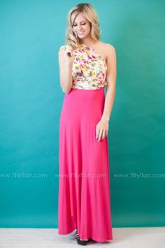 ALL THE WAY MAXI DRESS IN FUCHSIA FLORAL