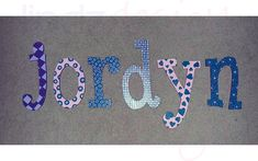 Hand-Painted Name Letters from Lindzdesign Name Letters, Custom Design, Calligraphy, Hand Painted, Painting, Art, Penmanship, Craft Art, Paintings