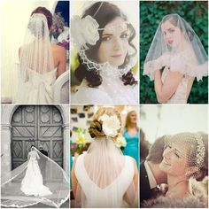 Veils come in different lengths and designs. Are you planning on walking down the aisle in a traditional, long veil or a modern, short veil?