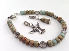 Weight Loss bracelet to track food Angels Among Us charm bracelet