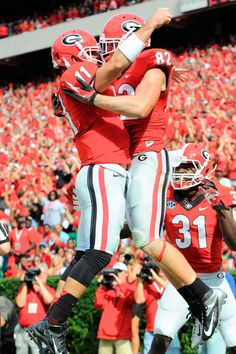 Aaron Murray and Michael Bennett. two of my favorites. IVE MET BENNETT AND BEEN TO HIS HOUSE OMG