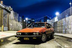 Alfa Romeo GTV6 in Dumbo, New York City - Photography by Josh Clason