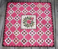 Peppermint Twist Quilt Top designed by Jo Morton