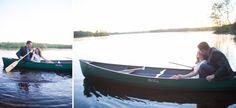 canoe engagement session northwoods wedding wisconsin