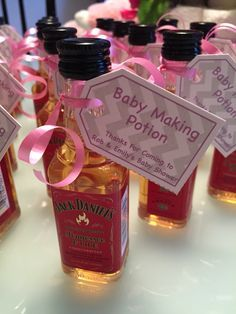coed baby shower favours baby making potion